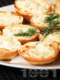 Зеленчукови тарталетки с тиквичка - снимка на рецептата